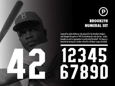 Brooklyn Numeral Set athletic font athletic numeral set numbers sports numbers sports font baseball font baseball design branding sports typography logo