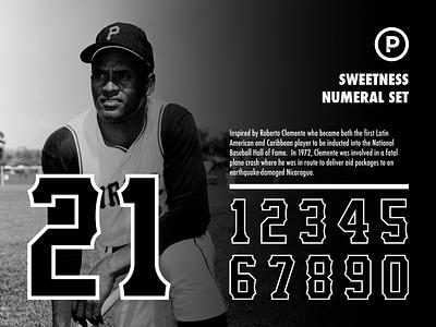 Sweetness Numeral Set athletics pirates baseball numbers baseball font sports logos sports logo sports numbers athletic font athletic numbers vector baseball design branding sports typography