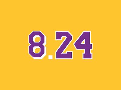 Mamba Day 8.24 vector design branding sports typography logo basketball logo basketball mambaday mambamentaility mamba kobe bryant kobe