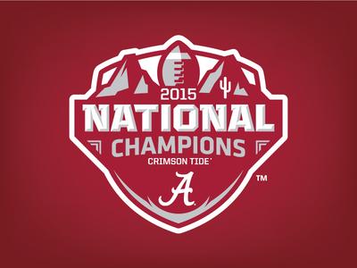 Alabama 2015 National Champions Logo Concept sports logo logo champions crimson tide roll tide football sports national champs national champions alabama