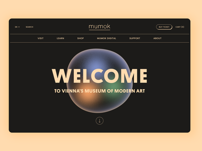 Mumok website redesign mumok vienna behance redesign concept figmadesign figma uxdesign uidesign ux ui