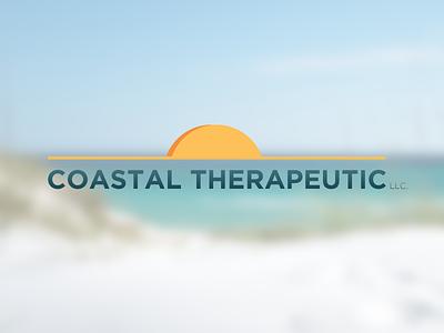 Coastal Therapeutic logo branding beach