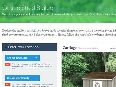 Shed Form Builder website flat ui webapp