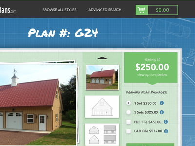 Plan#: G24 website product page blueprint shopping cart expressionengine