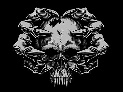 Prints for HH Wear (hh-wear.ru) skull print t-shirt