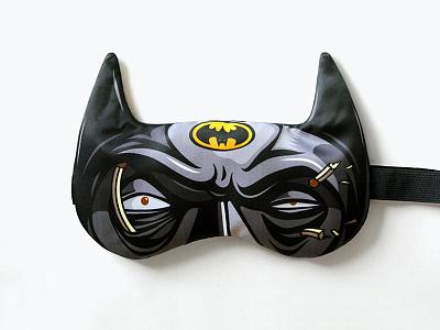 Bat-mask / Heroes Never Sleep! batman gift sleep mask mask heroes