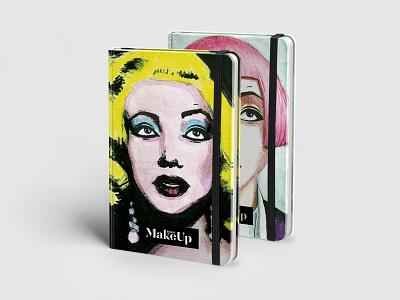 Make Up Book design planner levsha book design notebook art notebook monroe make up book art