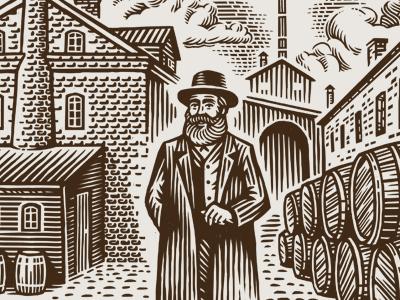 Illustration for Lidskae brewery engraving brewery beer