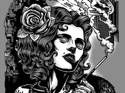 Ufo Print23 ufo tattoo smoke woman engraving