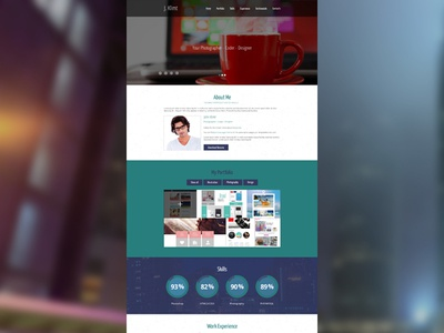 Personal Page web design personal page free template