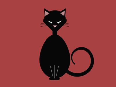 Black Cat free vector black cat