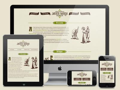 Responsive Wedding! responsive web design website golden grid system typography typekit css3 wedding