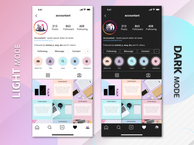 IG layout design - Accounting firm figma graphic design socialmedia photography accountant instagramlayout instagram design layout