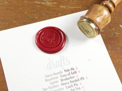 Beer List Wax Stamp