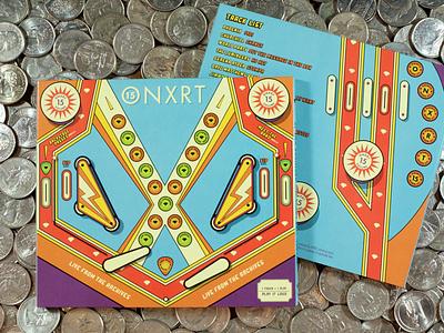 ONXRT Volume 15 illustration quarters typography arcade wxrt 93xrt onxrt cd packaging music pinball