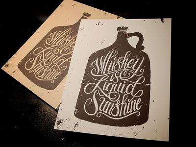 Whiskey Is Liquid Sunshine Print