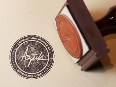 Azark Rubber Stamp rubber stamp simonstamp.com lettering typography identity branding mark stamp brand