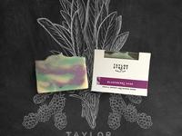 Blackberry Sage Chalk Art WIP