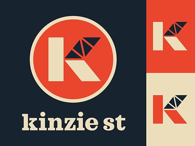 Kinzie Street Logo vector branding mark logo bridge chicago kinzie