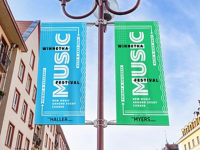 Festival Branding and Banner Mock-ups design layout typography festival banner music