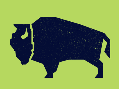 The Illinois Bison simple identity logo mark buffalo illinois bison