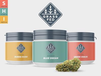 Grass Fed MMJ indica hybrid sativa identity branding packaging marijuana cannabis