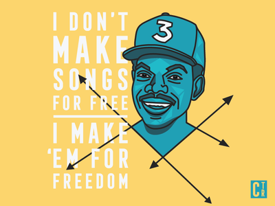 Chance Lyrics Illustration lyrics graphic design design type portrait illustration chance the rapper
