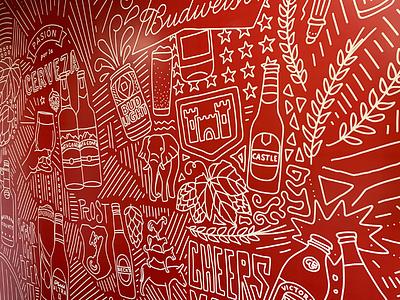 AB InBev Mural design california installation pro-ject art mountain view illustration beer