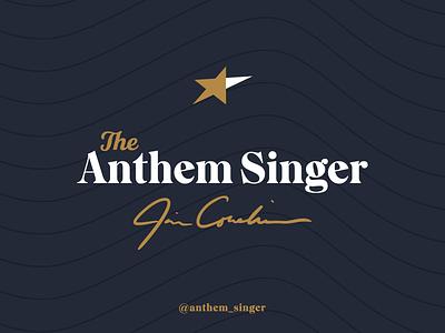 The Anthem Singer illustrator star flag anthem chicago design branding logo