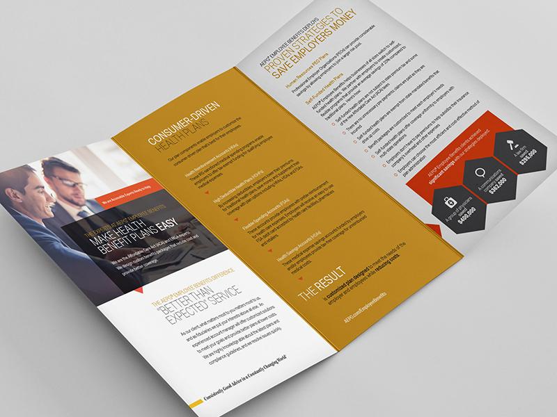 Financial Services Brochure: Inside print brochure