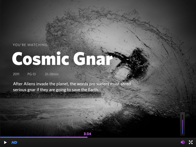 Cosmic Gnar Video Player