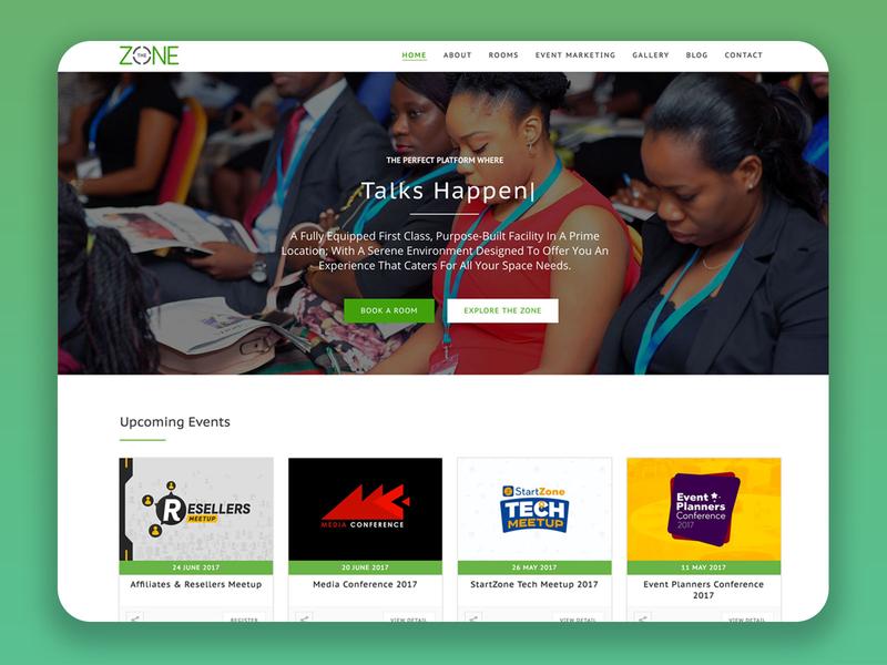 The Zone Centre Lagos Website Design