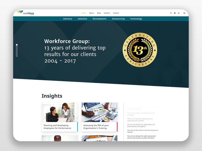 Work Force Group Website Design website web design ui ux