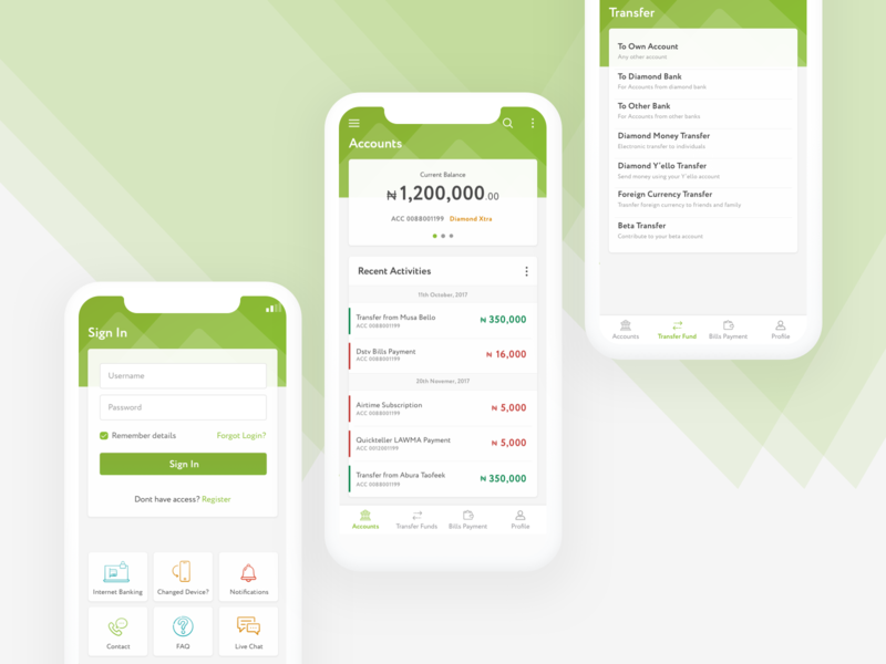 Diamond Mobile App Design UI wireframes prototype mobile app design mobile design mobile design ux ui