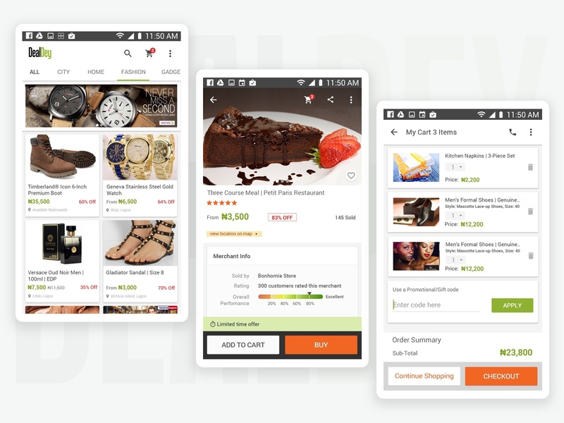 DealDey Android App Redesign Case Study paper sketch mobile design prototype material design android mobile app design mobile design ux ui