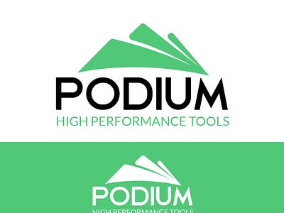 PODIUM branding  Logo tools tools logo podium branding logo graphic design ui