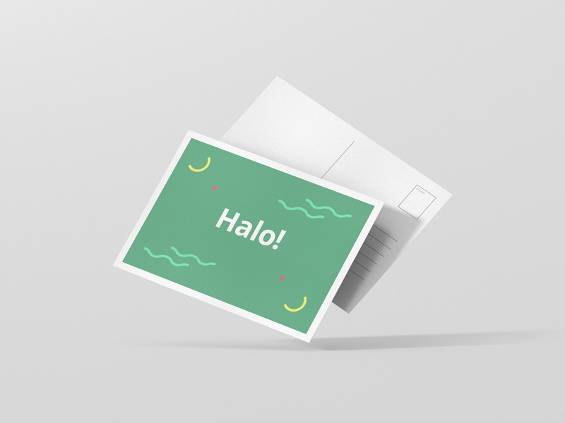 postcard flyer mockup by viscon design dribbble