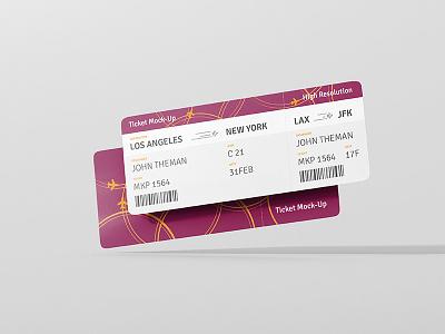 Ticket Design Round Corner boarding pass airplane plane typo typography flyer card mock up mockup