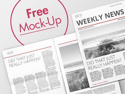 Newspaper Mock-Up Free Download freebie free typo design newspaper mock up mockup