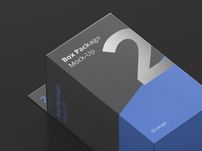 Hanger Box Mockup in Progress print box typo typography design packaging mock up mockup