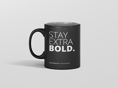 Stay Extra Bold Mug Mockup psd design coffee drink mug mockup mug mock up mockup