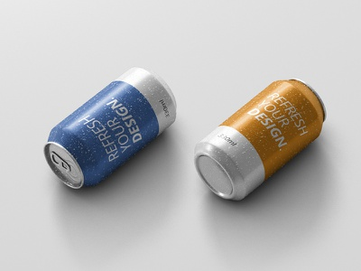 Fresh Can Mockup 330ml softdrink typo typography packaging beer can mock up mockup