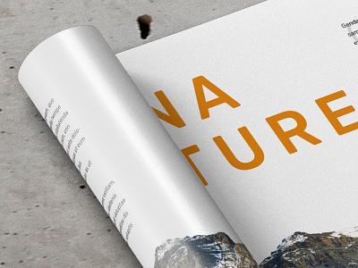 Preview Design Landscape Magazine editorial design mockup magazine