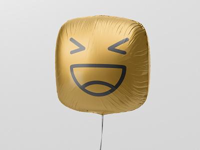 Happy Balloon baloon happy happiness logo smiley balloon mockup
