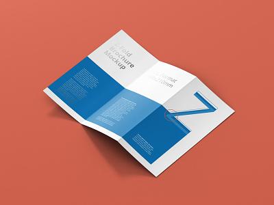 Z Fold Brochure Mockup Preview mockup z-fold z fold layout poster psd print design editorial brochure