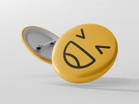 Happy Badge Button
