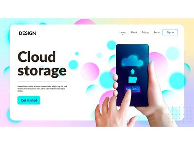 Cloud storage concept storage cloud vector illustration design