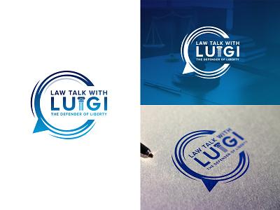 Law talk with Luigi logo graphic symbol corporate identity branding logo designing logo mark