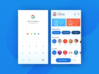Google Pay (gpay) Ui/Ux Redesign mobile app design uiux ui mobile application mobile apps