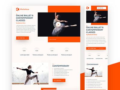 Khelormore _ Landingpage Design uidesing uxui ui design webdesign website landingpage uiux ui landing page design